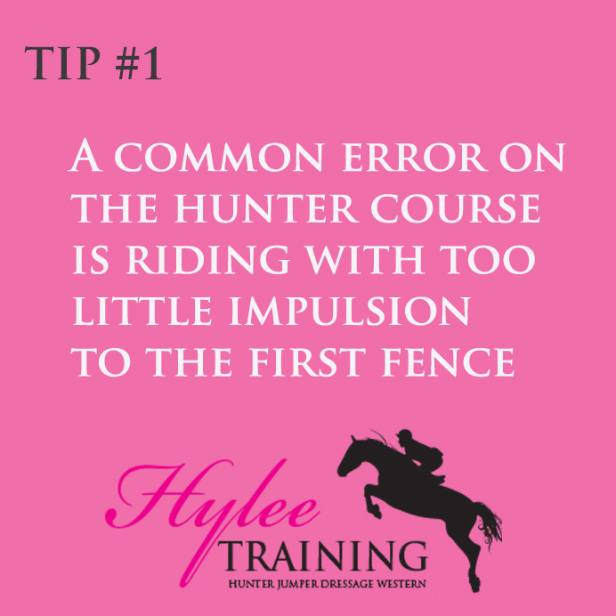 hunter course horse training tip